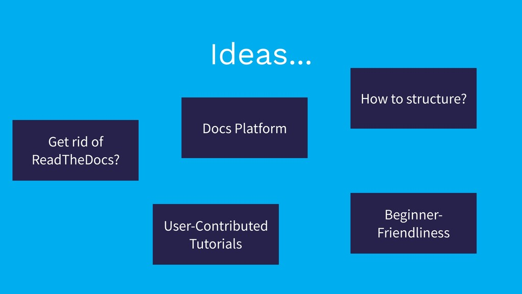 Docs Platform How to structure? Get rid of Read...