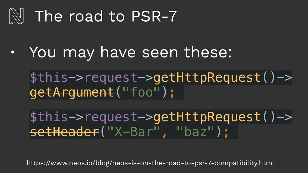 The road to PSR-7 • You may have seen these: ht...