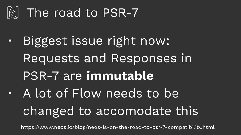 The road to PSR-7 • Biggest issue right now: Re...
