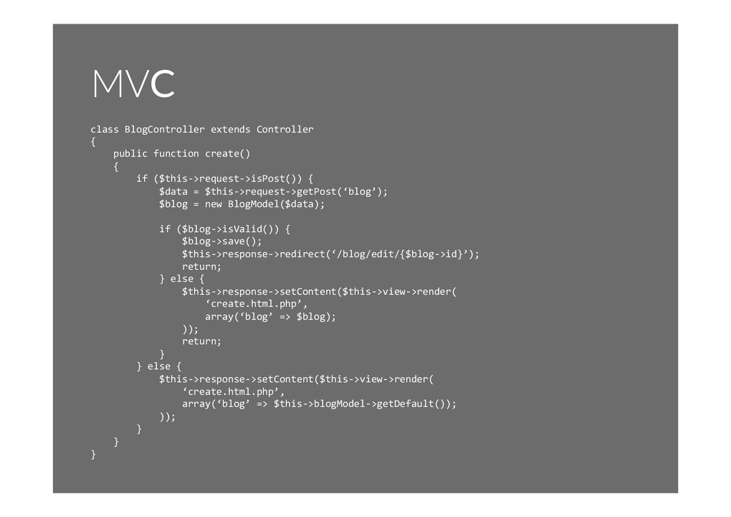 MVC class	