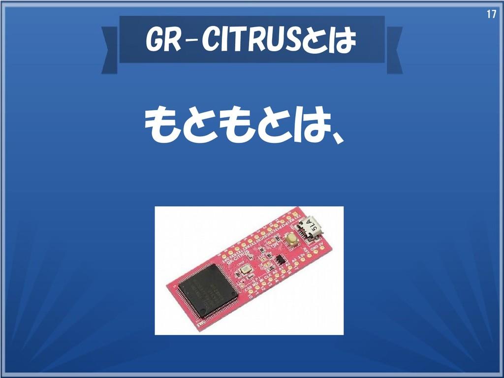 17 GR-CITRUSとは もともとは、