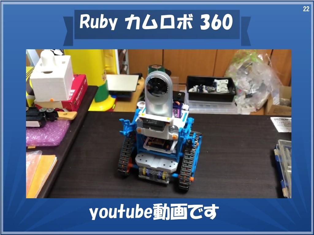 22 Ruby カムロボ 360 youtube動画です