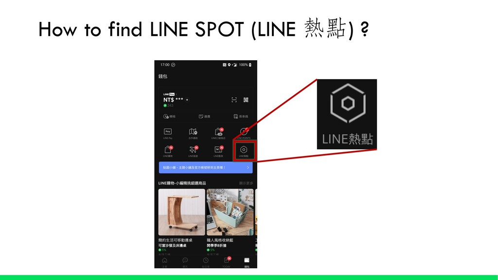 How to find LINE SPOT (LINE ) ?