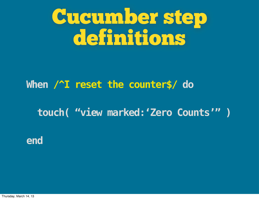 Cucumber step definitions When /^I reset the co...