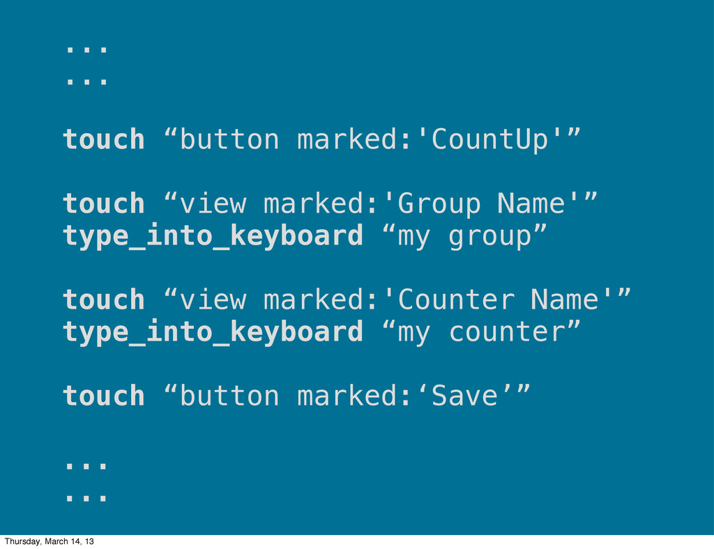 """... ... touch """"button marked:'CountUp'"""" touch """"..."""
