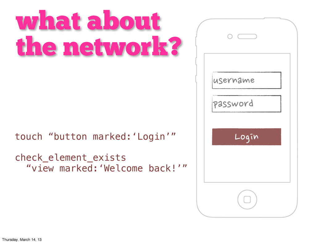 what about the network?      ...