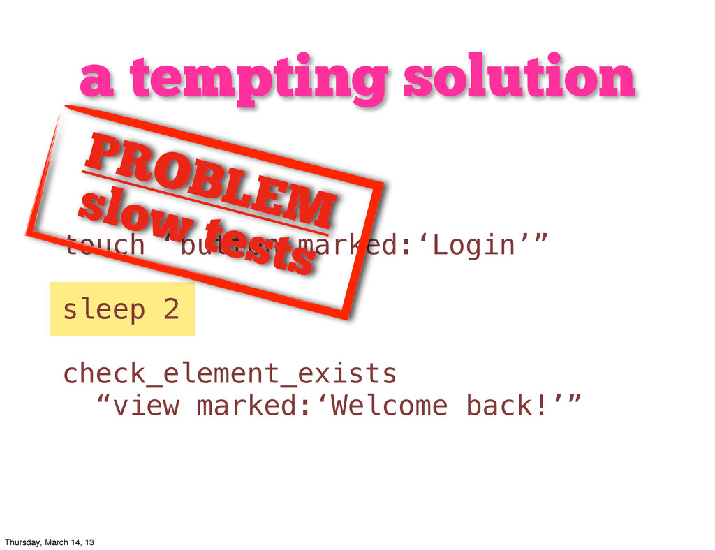 """a tempting solution touch """"button marked:'Login..."""