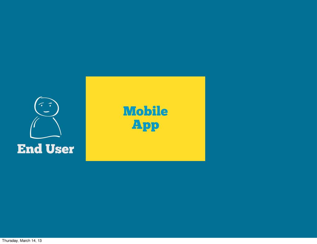 Mobile App End User Thursday, March 14, 13