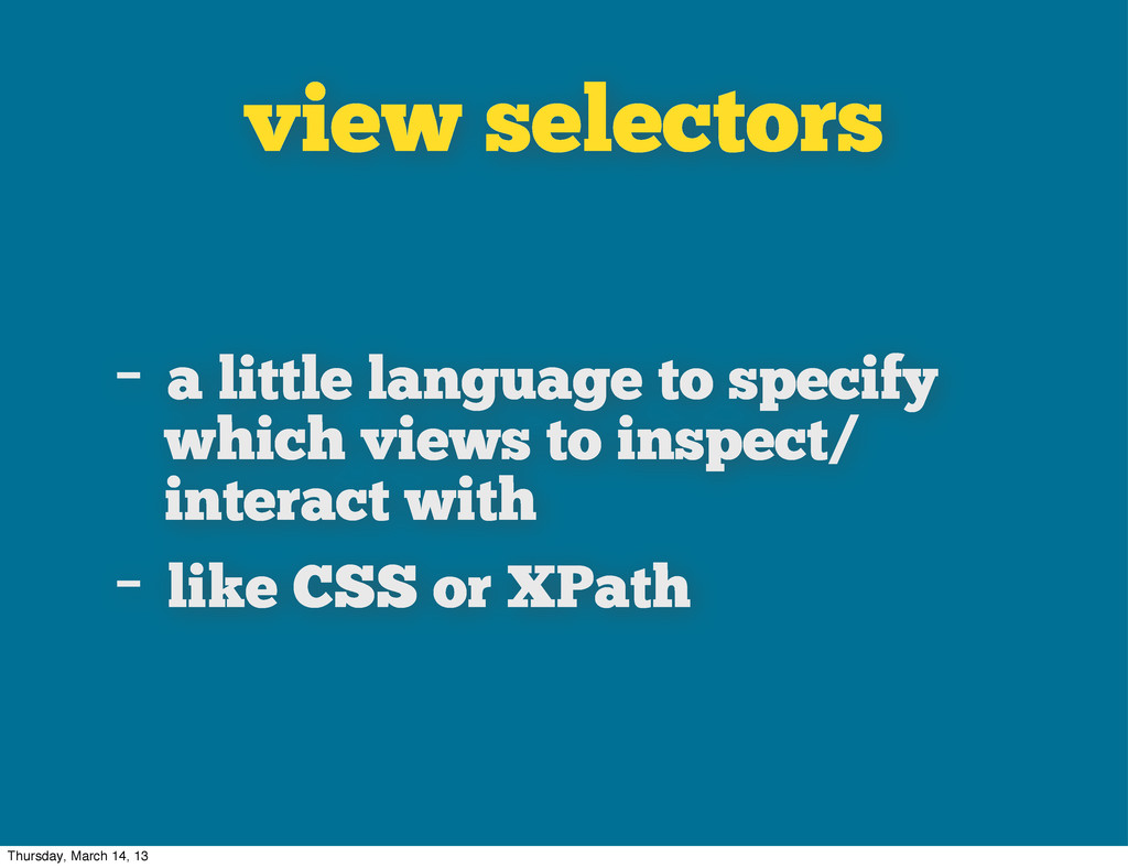 view selectors - a little language to specify w...