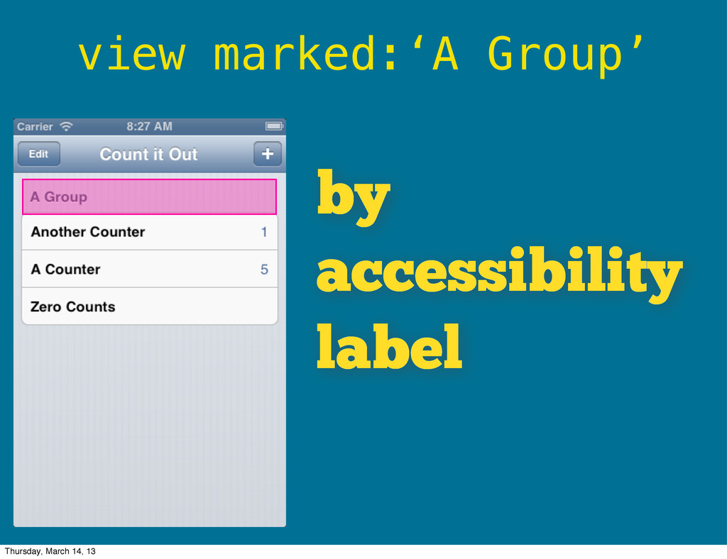 view marked:'A Group' by accessibility label Th...