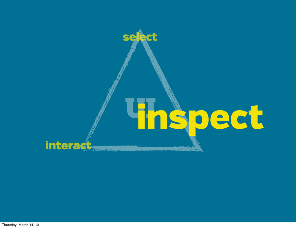 UI select interact inspect Thursday, March 14, ...
