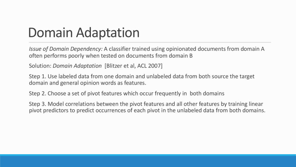 Domain Adaptation Issue of Domain Dependency: A...