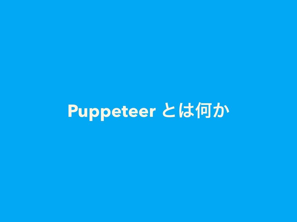 Puppeteer ͱԿ͔