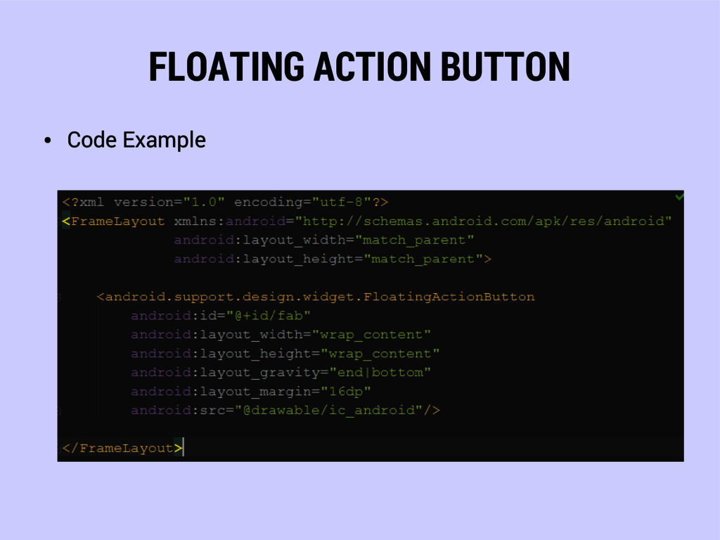 FLOATING ACTION BUTTON ● Code Example