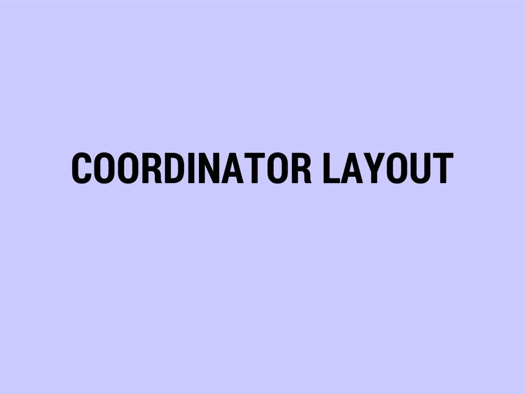 COORDINATOR LAYOUT
