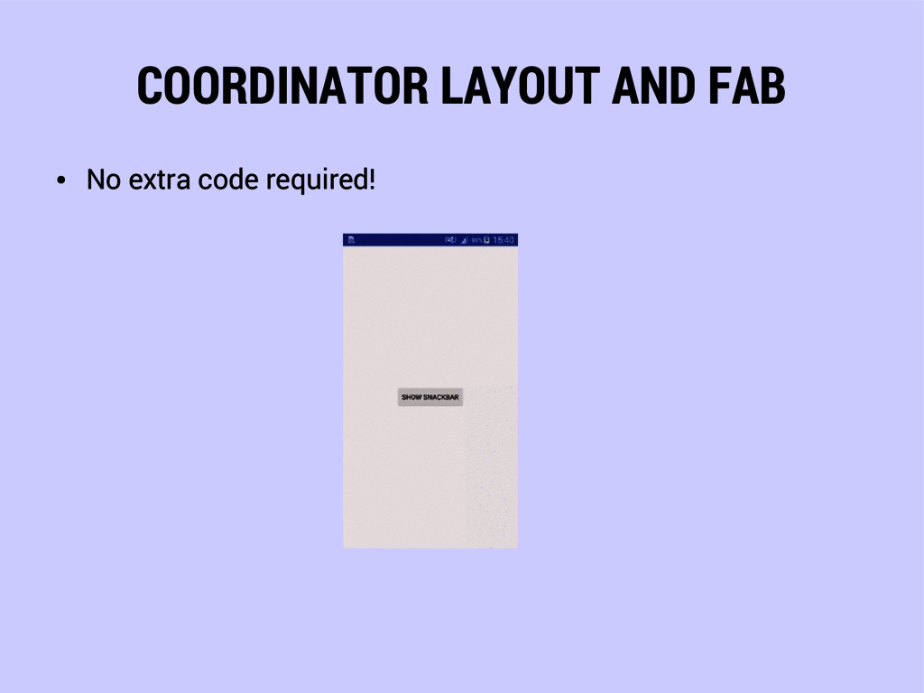 COORDINATOR LAYOUT AND FAB ● No extra code requ...