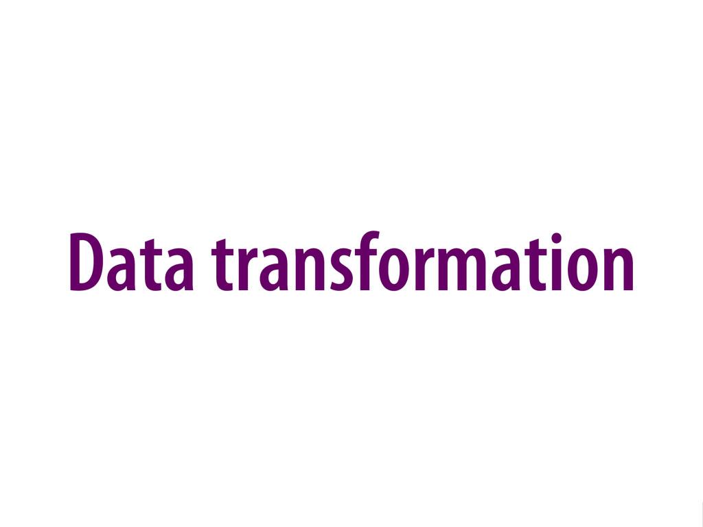 Bernhard Schussek @webmozart 70/96 Data transfo...