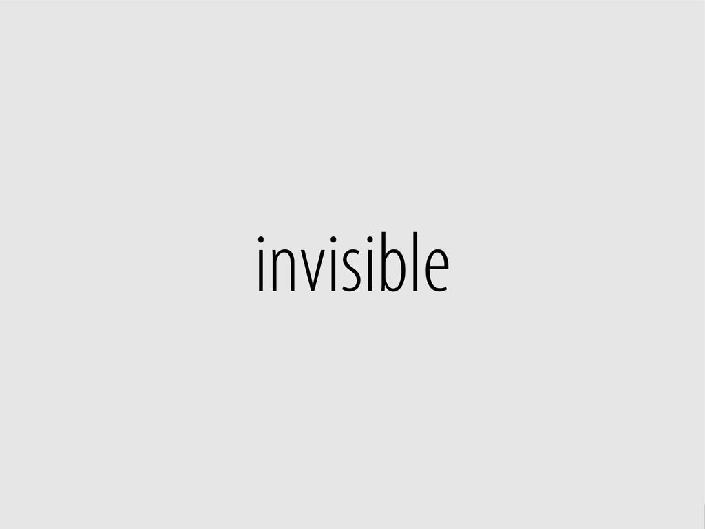 Bernhard Schussek @webmozart 10/96 invisible
