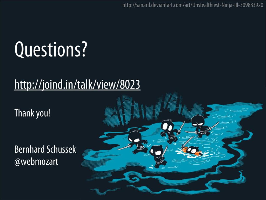 Bernhard Schussek @webmozart 96/96 Questions? h...