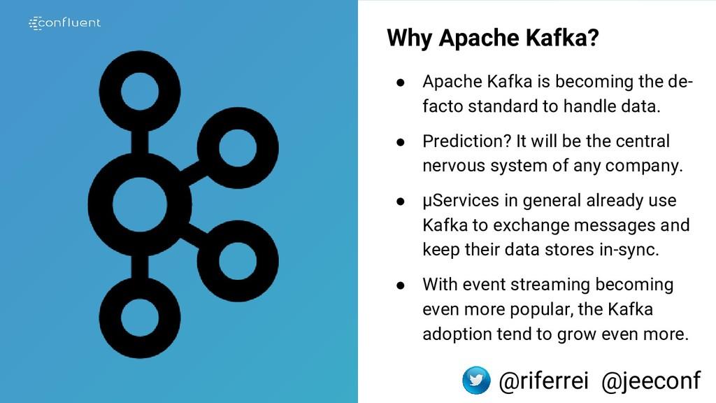 Why Apache Kafka? ● Apache Kafka is becoming th...