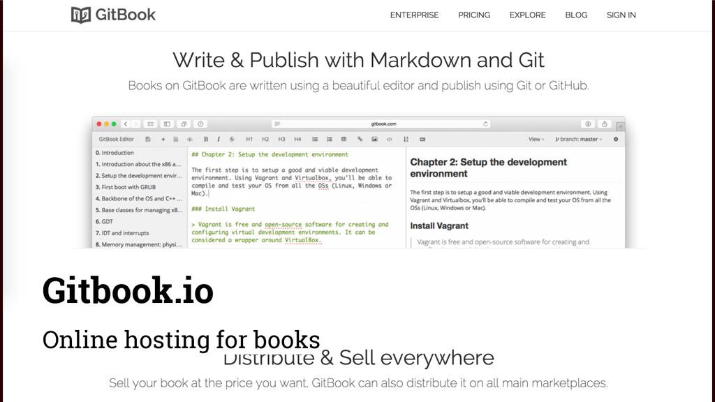 Gitbook.io Online hosting for books