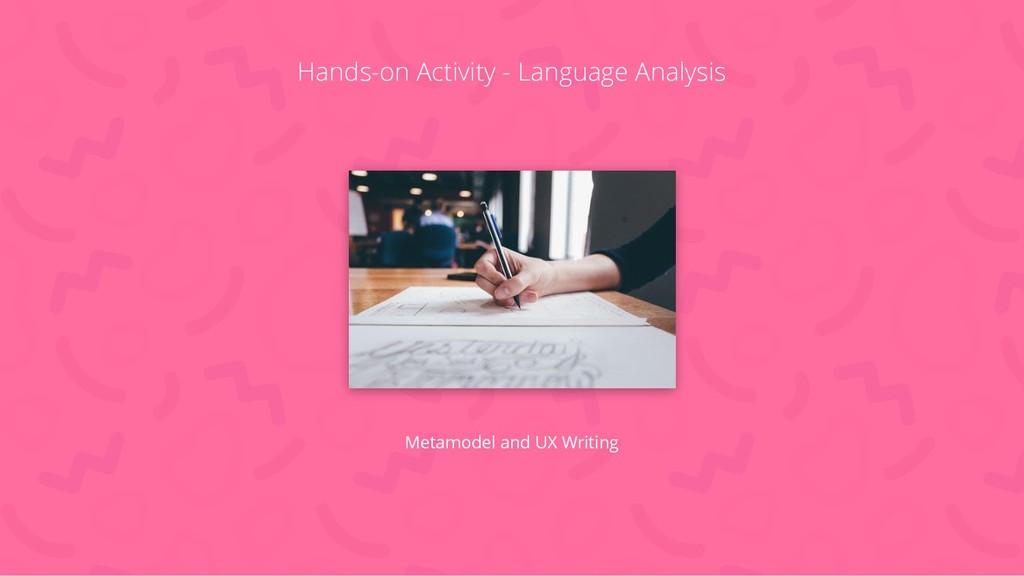Hands-on Activity - Language Analysis Metamodel...