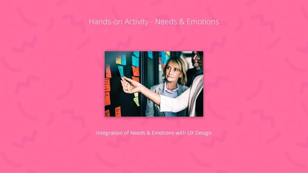 Hands-on Activity - Needs & Emotions Integratio...