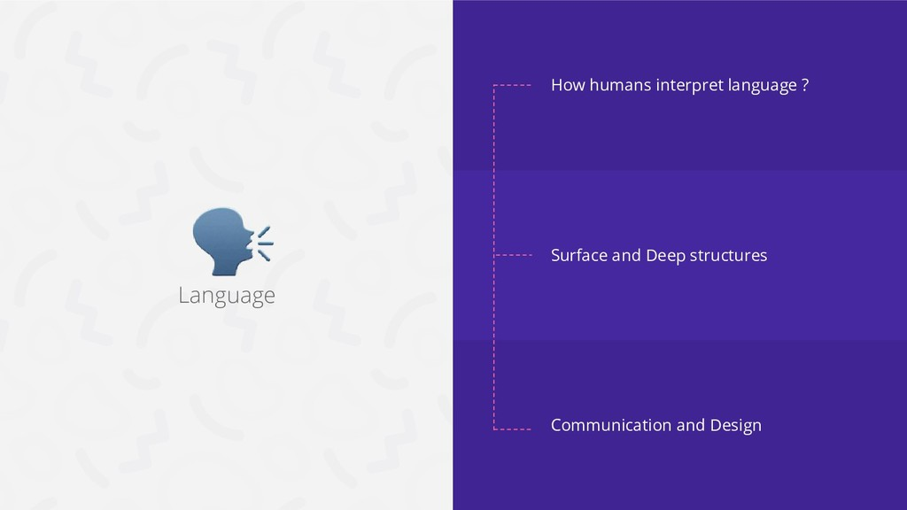 Language How humans interpret language ? Surfac...