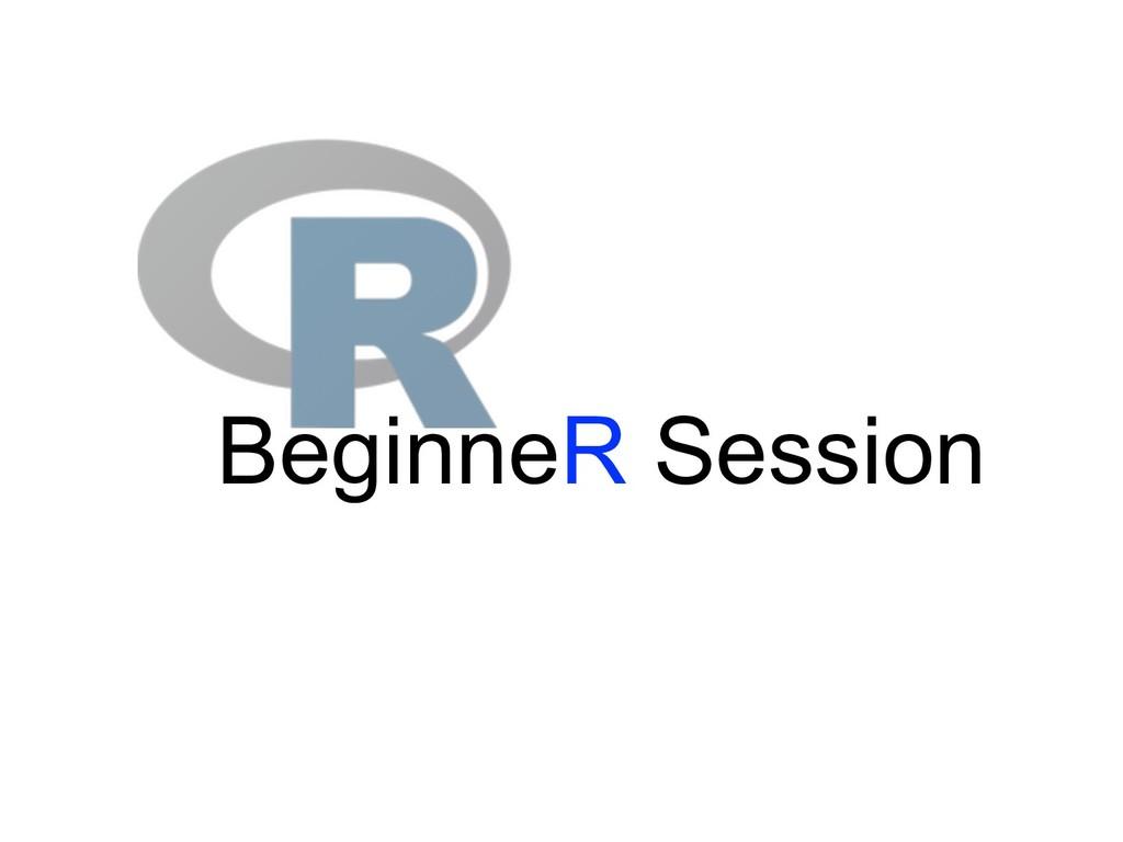 BeginneR Session