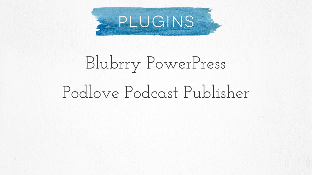Plugins Blubrry PowerPress Podlove Podcast Publ...