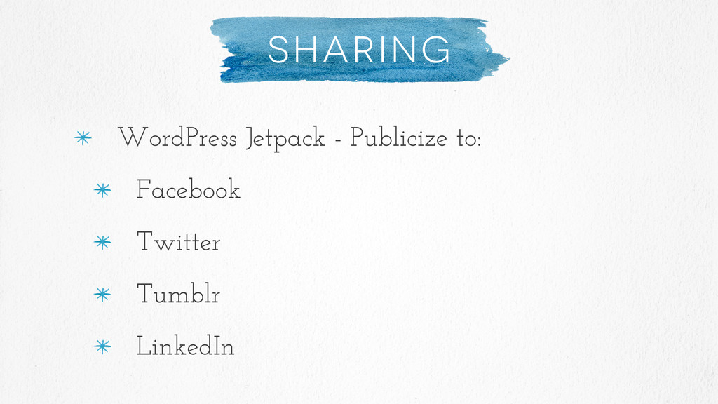 Sharing WordPress Jetpack - Publicize to: Faceb...