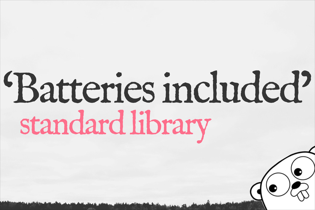 'Batteries included' standard library