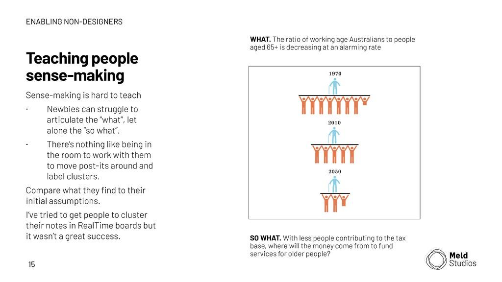 15 Teaching people sense-making Sense-making is...