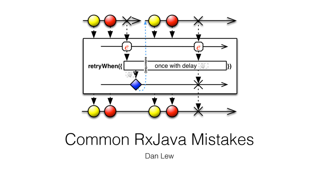 Common RxJava Mistakes Dan Lew