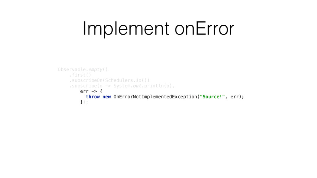 Implement onError Observable.empty()