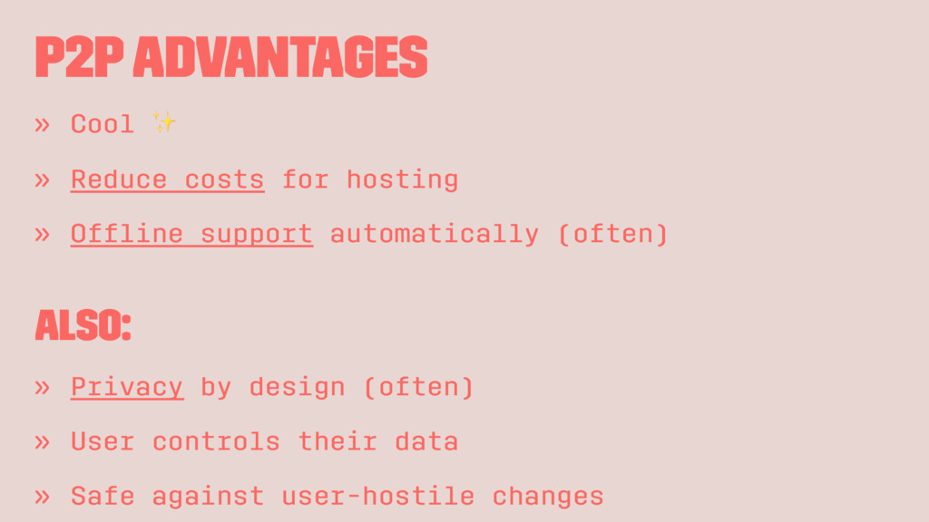 P2P Advantages » Cool ✨ » Reduce costs for host...