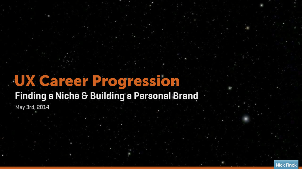 Finding a Niche & Building a Personal Brand May...