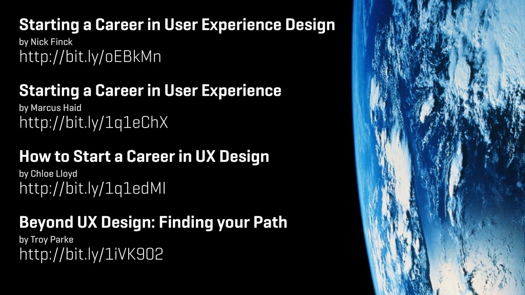 Starting a Career in User Experience Design ! b...