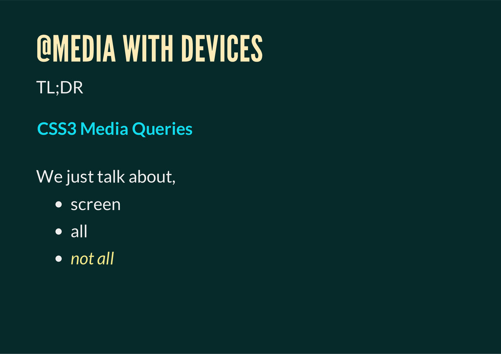 @MEDIA WITH DEVICES TL;DR We just talk about, s...