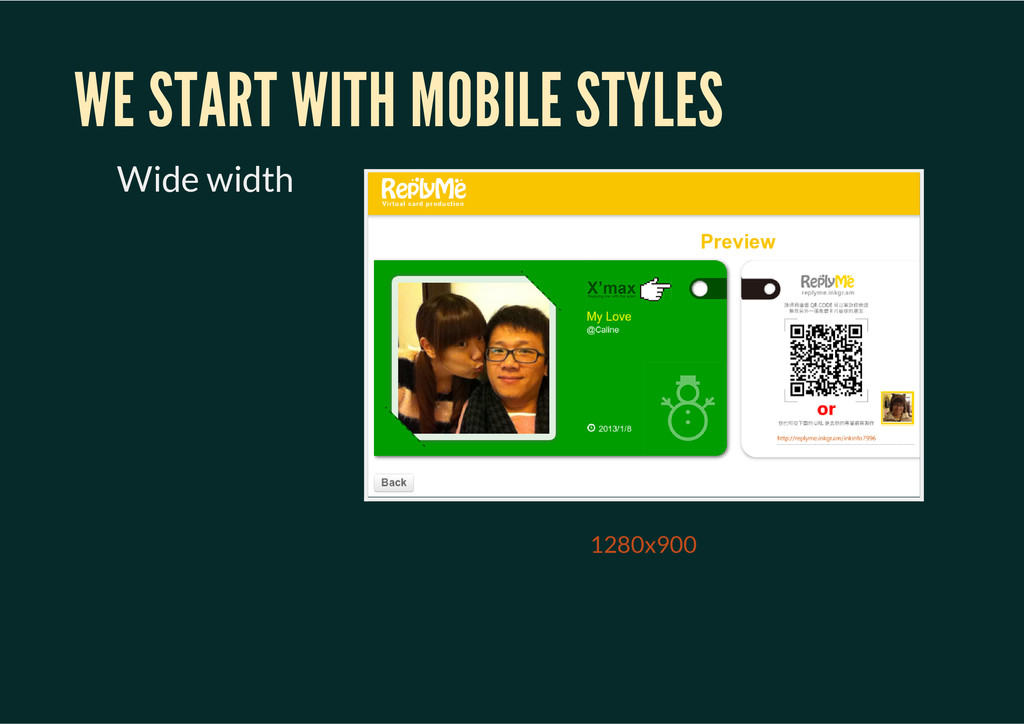 1280x900 WE START WITH MOBILE STYLES Wide width