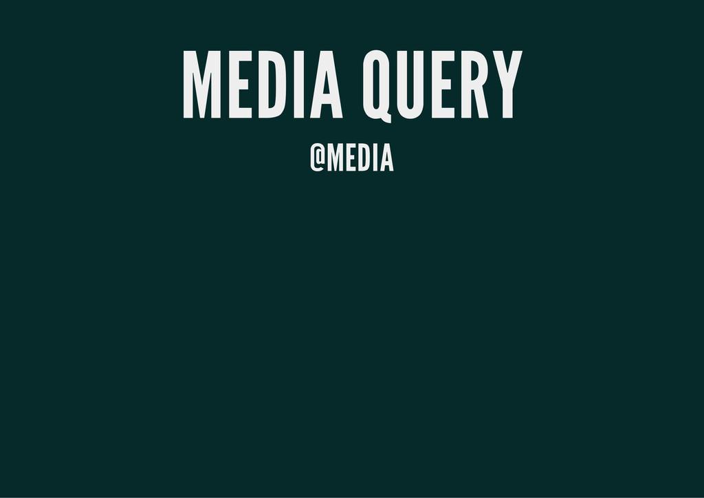 MEDIA QUERY @MEDIA