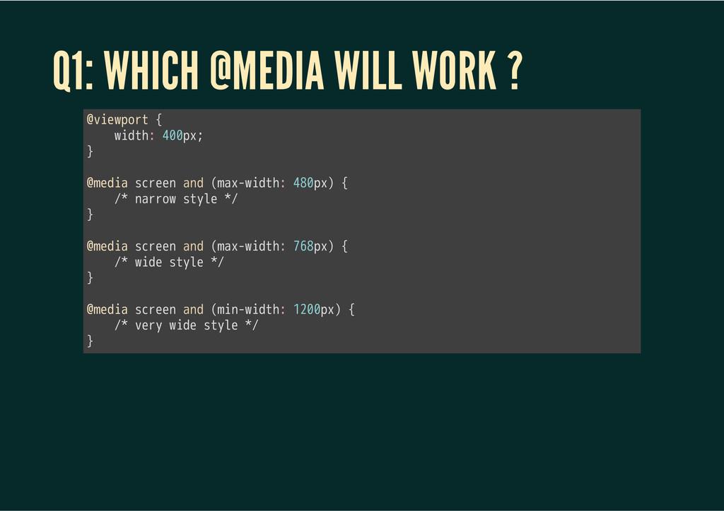 Q1: WHICH @MEDIA WILL WORK ? 㫮㫭㫠㫜㫮㫧㫦㫩㫫㫔㫲 㫔㫔㫔㫔㫮㫠...