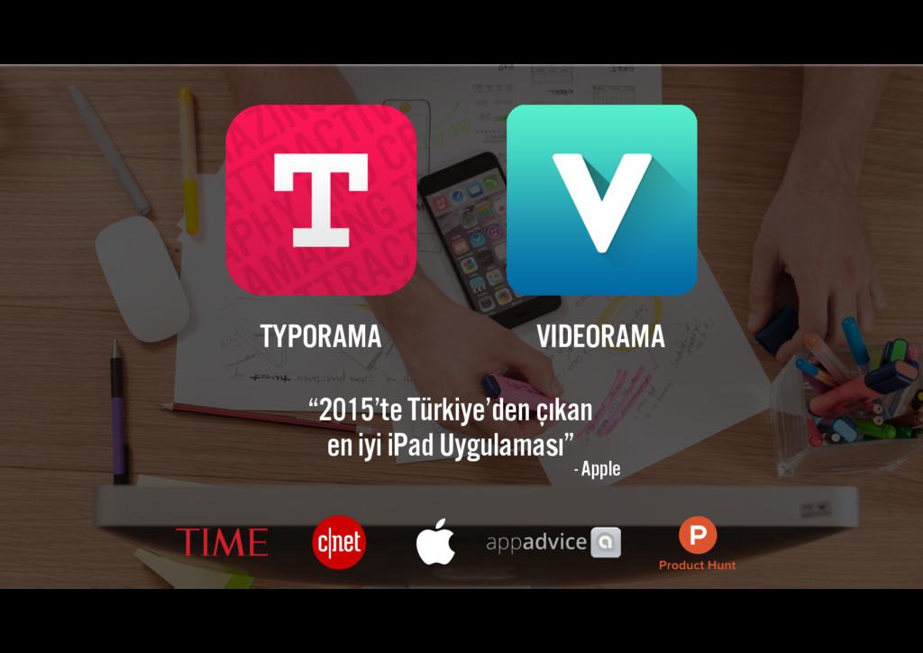 """TYPORAMA VIDEORAMA """"2015'te Türkiye'den çıkan ..."""