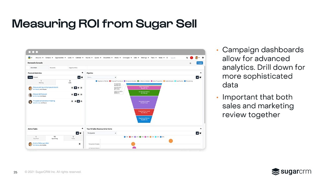 © 2021 SugarCRM Inc. All rights reserved. • •