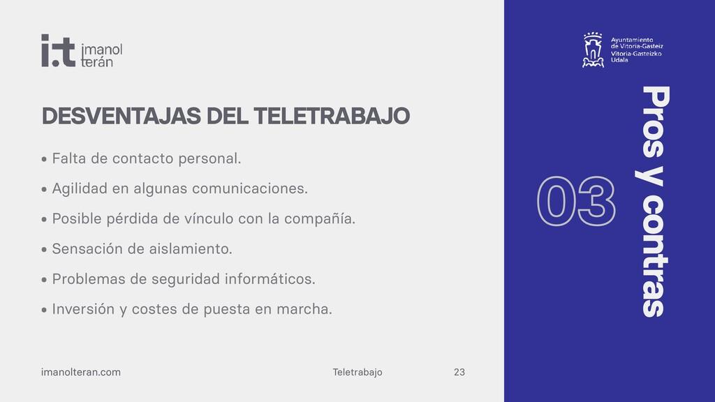 Teletrabajo imanolteran.com • Falta de contacto...