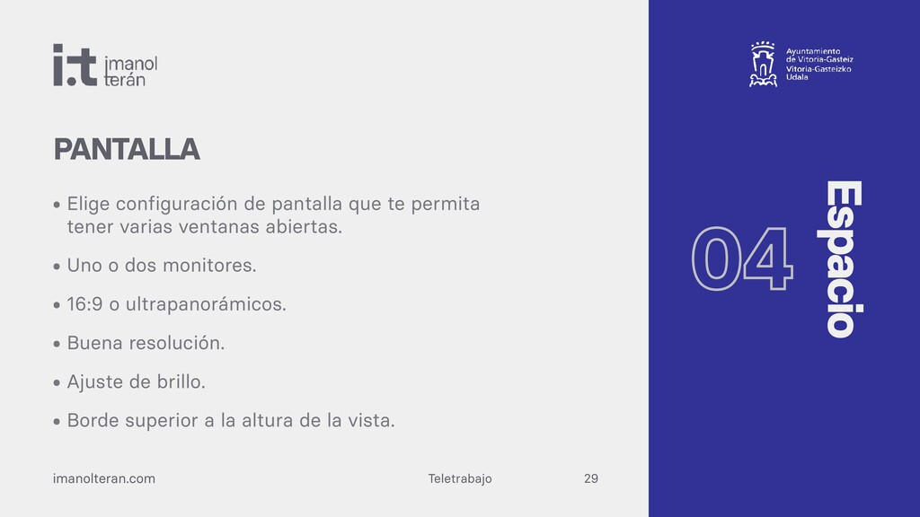 Teletrabajo imanolteran.com • Elige configuraci...