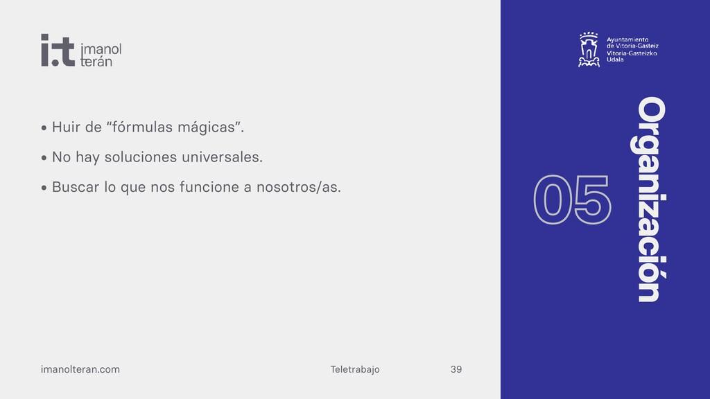 """Teletrabajo imanolteran.com • Huir de """"fórmulas..."""