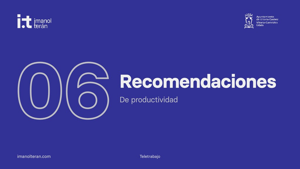 imanolteran.com 06Recomendaciones De productivi...