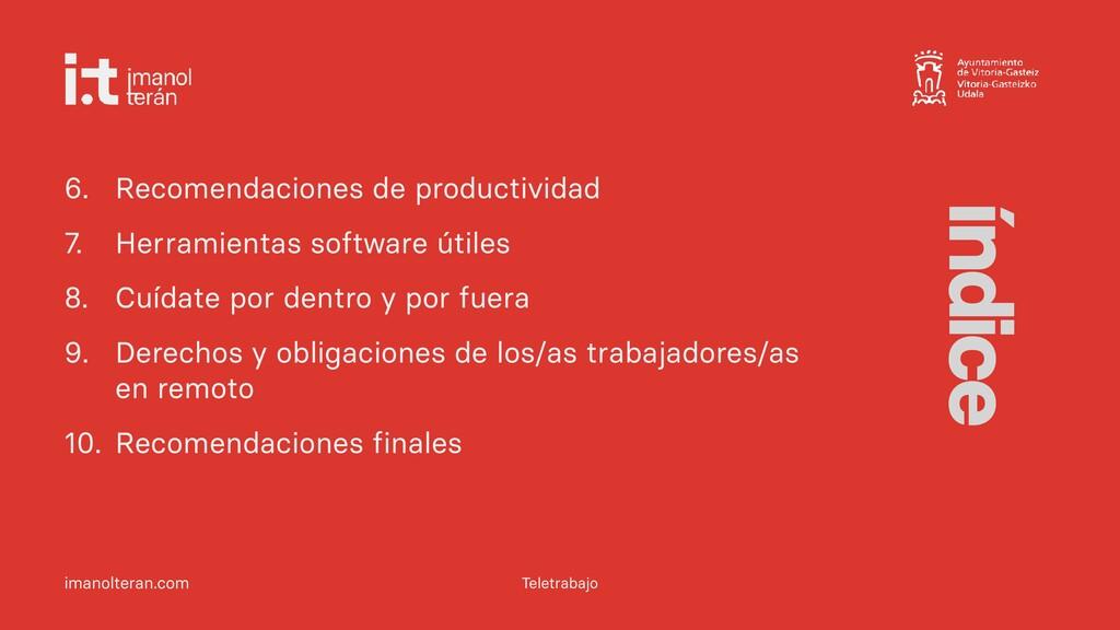 imanolteran.com 6. Recomendaciones de productiv...