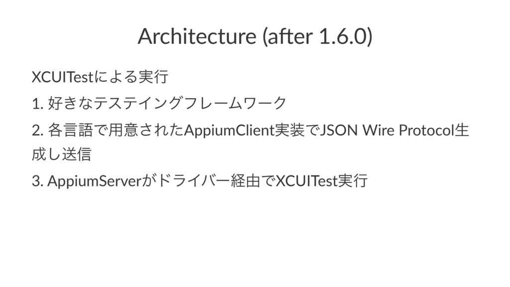 Architecture (a,er 1.6.0) XCUITestʹΑΔ࣮ߦ 1. ͖ͳς...